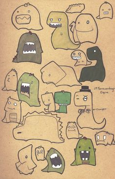 Dinosaur doodles by ~Yukki-Chan on deviantART