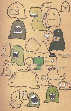 Dinosaur doodles by ~Yukki-Chan on deviantART