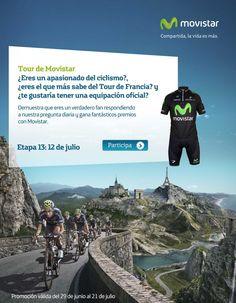 Gana equipaciones de ciclismo del Movistar Team del Tour de Francia
