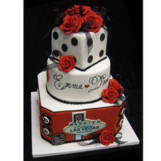"""Lucky in Love/A Vegas couple scored the jackpot with this popular Freed's Bakery's cake originally designed for July 7, 2007. Get it? Lucky number 7/7/7. The flashy cake, which includes edible poker chips and a """"Married in Fabulous Las Vegas"""" sign, can be ordered in a variety of flavors including Light White Cake with Bavarian Cream and Sun Lemon with Raspberry Mousse. freedsbakery.com"""