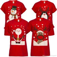 Christmas Mens Womens Unisex Xmas Cotton Short Sleeve T Shirt Santa Reindeer Snowman Print Xmas Gifts T-Shirts Tees Tops Clothes Xmas Shirts, Christmas Shirts, Christmas Humor, Family Christmas, Red Christmas, Christmas Sweaters, Xmax, Bear T Shirt, Tee Shirt