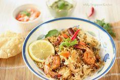Kerala Prawn Biryani -Indulge your taste buds in this flavourful authentic biryani.