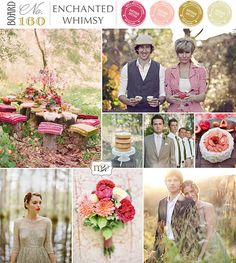 This wedding site has some gorgeous color schemes.   Love this for a girly layout.