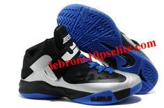 95732b52712 Nike Zoom Zoom LeBron Soldier 6(VI) Black White Blue Kobe Shoes