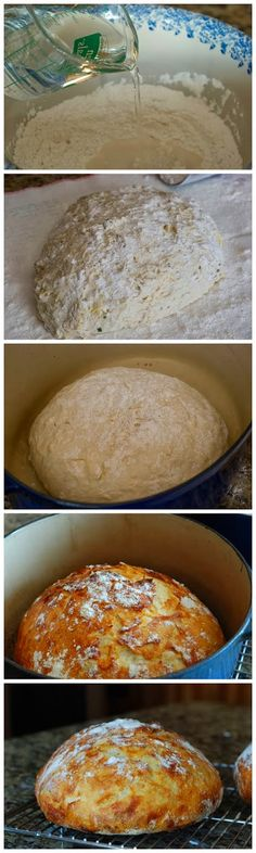 Crusty Bread   Ingredients:     3 cups unbleached all purpose flour  1 3/4 teaspoons salt  1/2 teaspoon Instant or Rapid-rise yeast  1 1/...