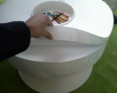 Table made of Note Paper from IDEO