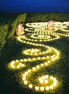 Inexpensive votive are a beautiful idea for a romantic evening.