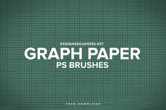 Free Graph Paper Brush Set for Adobe Photoshop by DesignerCandies.net