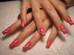 acrylic pink nail designs