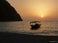 Sunset on the Mediterranean Sea, Butterfly Valley, Turkey #idowhatiwanto