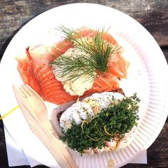 You can't miss the open-faced sandwiches at the Torvehallerne market in #Copenhagen. #fish Photo courtesy of mycitybites on Instagram.
