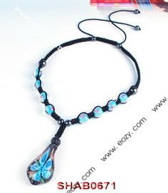 Blue Disco Ball Necklace Jewelry Findings with Pendant