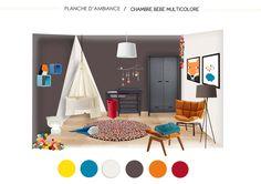 chambre multicolore pour bébé
