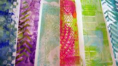 Gelli Arts Monoprinting Plate Tutorial by Roben-Marie Smith. Join me as I share some ways I like to use the Gelli Arts Monoprinting Plate to create backgrounds.