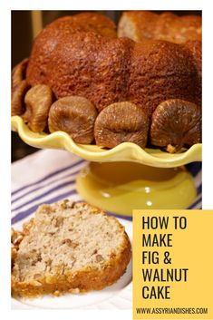Learn How to Make Fig & Walnut Cake with Assyrian Dishes! Learn To Cook, How To Make, Walnut Cake, Food Videos, Fig, Banana Bread, Dishes, Cooking, Desserts