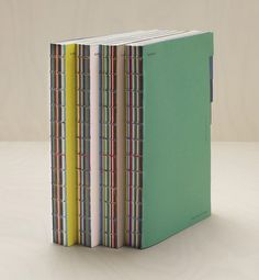 binding with multicolour stitches