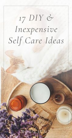 Self care is an important part of taking care of your mental health, but things like getting a massage or facial are pretty expensive. Instead, here are 17 inexpensive ideas for self care.    Self | Care | Self | Love | Pampering | Luxury | Routine Better | Life  | Wellness | Bubble Bath | Bath Bomb