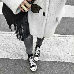 Well, rest assured, this collection of outfits with Converse will show you just that. Take a look at beautiful winter outfits with Converse in the photos below… Continue Reading → Casual Street Style, Looks Street Style, Winter Outfits, Casual Outfits, Fashion Outfits, Mode Style, Style Me, Outfits With Converse, Winter Mode