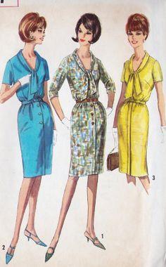 1960s Misses One Piece Dress Vintage Sewing by MissBettysAttic, $8.00