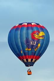 #Jayhawk hot air balloon. I miss the hot air balloons by gmas house.