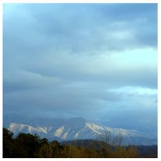 The Smoky Mountains covered in winter snow