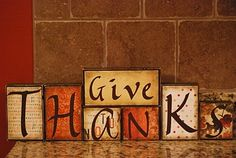 Mama's Crafts: Give Thanks blocks