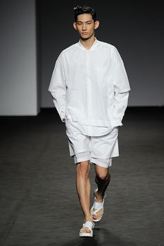 Park Hyeong Seop at J Koo Spring 2015 Seoul Fashion Week