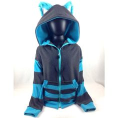 This Cheshire Cat Costume Hoodie Comes Complete With Furry Ears (140 CAD) ❤ liked on Polyvore featuring jackets, sweaters, tops, hoodies and hoodies/jackets