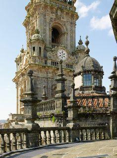 Tejados de la Catedral de Santiago de Compostela (Santiago de Compostela, A Coruña)