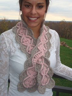 Free Crochet Pattern Download -- This Bavarian Keyhole Scarf, designed by Ellen Gormley, is featured in episode 2, season 3 of Knit and Crochet Now! TV. Learn more here: https://www.anniescatalog.com/knitandcrochetnow/patterns/detail.html?pattern_id=88&series=2