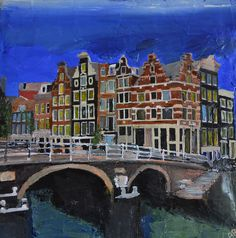 Amsterdam, Canals and Houses, by Andrew Reid Wildman