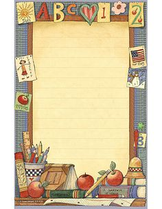 Teacher Created Resources School Time Notepad from Susan Winget Borders For Paper, Borders And Frames, Cute Wallpaper Backgrounds, Cute Wallpapers, Foam Crafts, Paper Crafts, Text Frame, Computer Paper, Page Borders