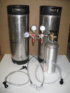 Kegging System with 2 Kegs, Double Regulator, and Picnic Faucets