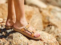 Teva Universal Slide Leather Flat Sandal Women's Shoes | DSW $80