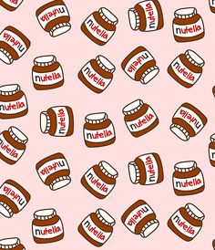 "pattern chocolate food | Cute Tumblr Nutella Pattern"" Miniröcke von deathspell 
