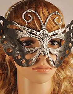 6 Cores mulheres da borboleta PVC máscara do partido