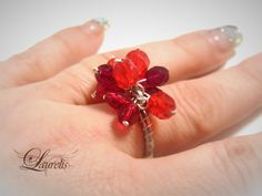 red glass fashion ring by Laurelisbijoux on Etsy, $7.99