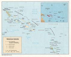 Las Islas Salomón forman un país insular situado en el Pacífico sudoccidental, en Melanesia, en los 8º 00′ de latitud S y 159º 00′ de longitud E. Este archipiélago está constituido por algunas isla...