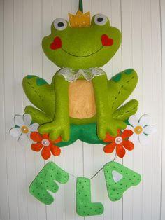 Keçe kapı süsü-kurbağa