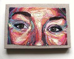 """On my own"" Auto-portrait en broderie. Julie Sarloutte"
