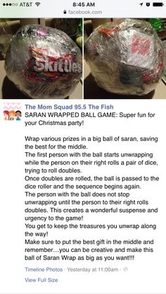 Saran Wrap ball game