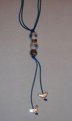 dada26e4e Items similar to Leather lariat/lariet for Troll beads or pandora/chamelia  charm beads on Etsy