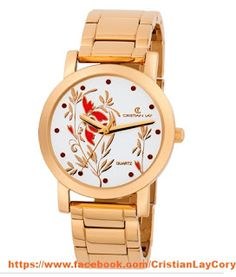 Cory Cristian Lay: Reloj Beclay con cristales Swarovski Gold Watch, Watches, Accessories, Sheet Metal, Steel, Bangles, Clock, Crystals, Stretch Fabric