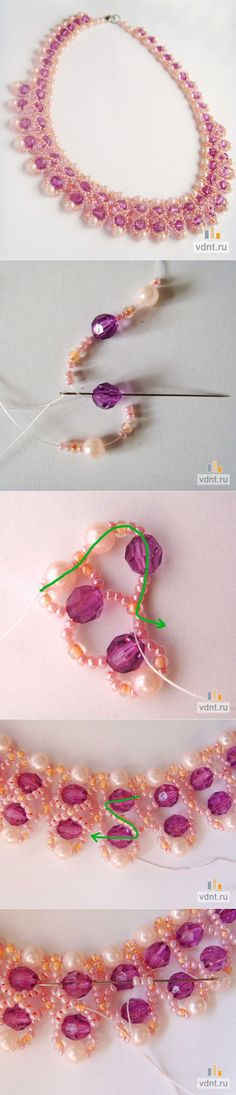 "Master class on beading - necklace ""Caramel"" 