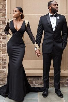 Stunning Prom Dresses 2018 Modest Formal Evening Party Pageant Gowns African Deep V-Neck Long Sleeve Yousef Aljasmi Dubai Arbic Cheap Engagement and Hochzeitskleid - Prom Dresses 2018, Pageant Gowns, Wedding Dresses, Party Gowns, Bridesmaid Dresses, Dresses Dresses, Long Dresses, Blue Dresses, Black Love Couples