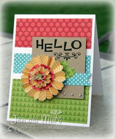 love it - so easy to make with paper scraps. (Pin#1: Hello... Pin+: Color Blocking).
