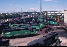 RailPictures.Net Photo: BN 6149 Burlington Northern Railroad EMD SD9 at Denver, Colorado by Robert Palmer