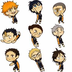 Ugh, too fucking cute. Haikyuu chibis by Eilonna.deviantart.com on @DeviantArt