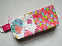 Cosmetic Case Make Up Bag Purse Pouch Tote Wallet - READY TO SHIP - Birds - Birdies - Tweet - Cute - Fabric - Fun - Colorful-Pretty - Cyndee by CyndeesGarden on Etsy