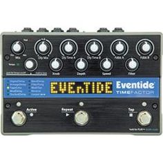 Eventide Time Factor Twin Delay Pedal - Andertons Music Co. Guitar Effects Pedals, Guitar Pedals, Adrian Belew, Tape Echo, Line Level, Steve Vai, Eddie Van Halen, Frank Zappa, Pedalboard